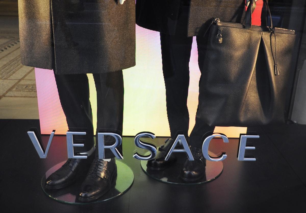 EPTEMBER 22, 2017: A display window at a Versace clothing store on Fifth Avenue in Midtown Manhattan, New York City.