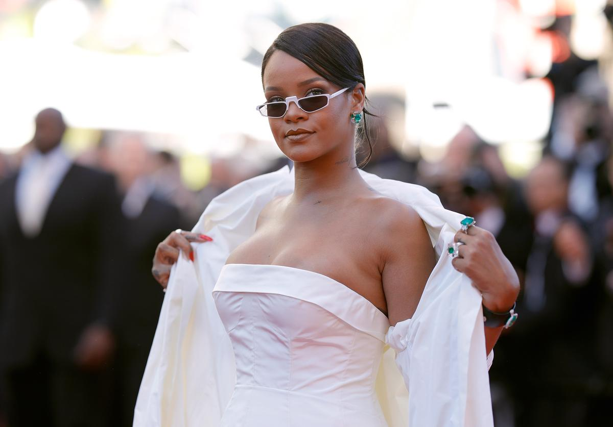 """Rihanna attends the """"Okja"""" screening during the 70th annual Cannes Film Festival at Palais des Festivals on May 19, 2017 in Cannes, France"""