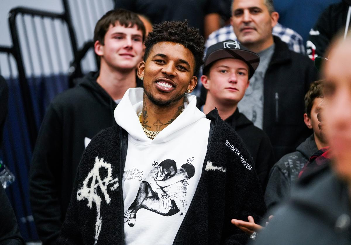Nick Young attends the Sierra Canyon vs Mayfair game on January 04, 2019 in Chatsworth, California