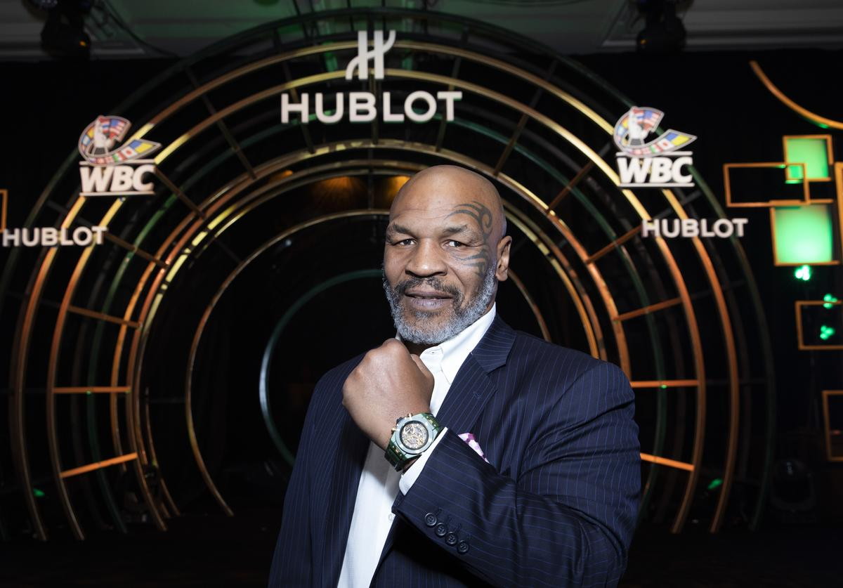 """In this handout image provided by Hublot Mike Tyson attends the Hublot x WBC """"Night of Champions"""" Gala"""