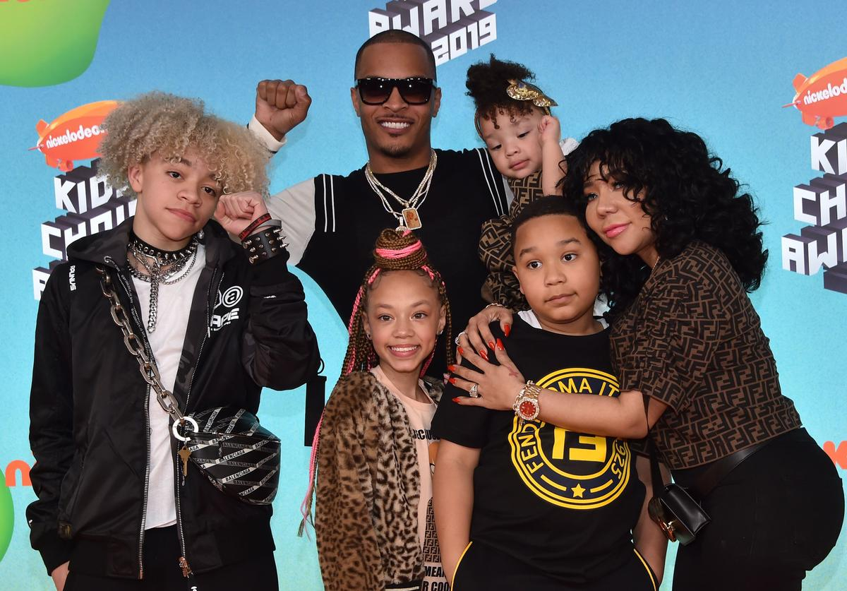 TI & Tiny and their kids at the Nickelodeon Choice awards