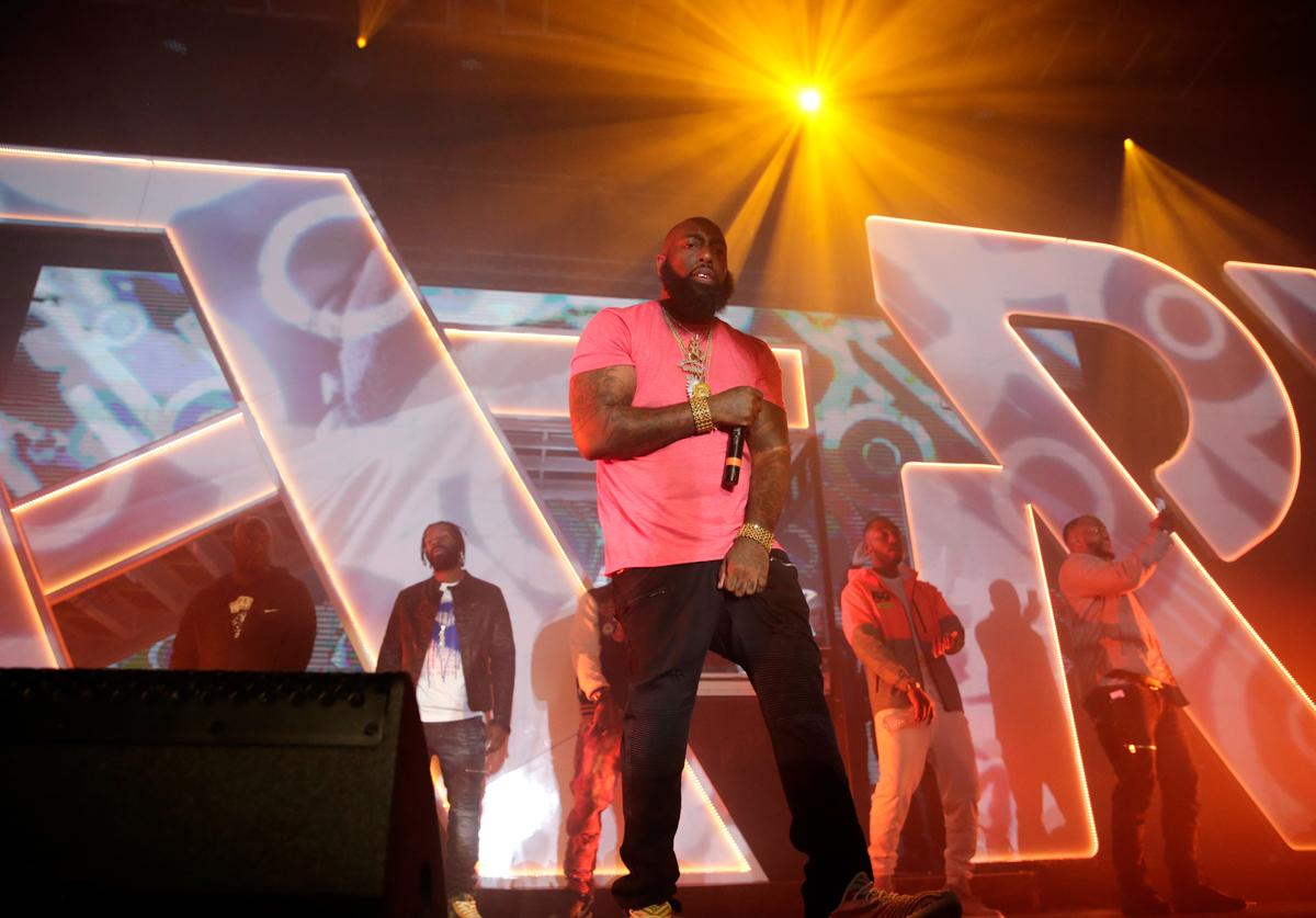 Trae Tha Truth performs onstage during Spotify's RapCaviar