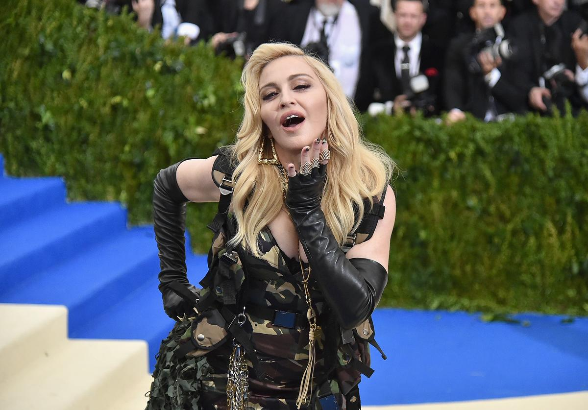 """Madonna attends the """"Rei Kawakubo/Comme des Garcons: Art Of The In-Between"""" Costume Institute Gala at Metropolitan Museum of Art on May 1, 2017 in New York City."""