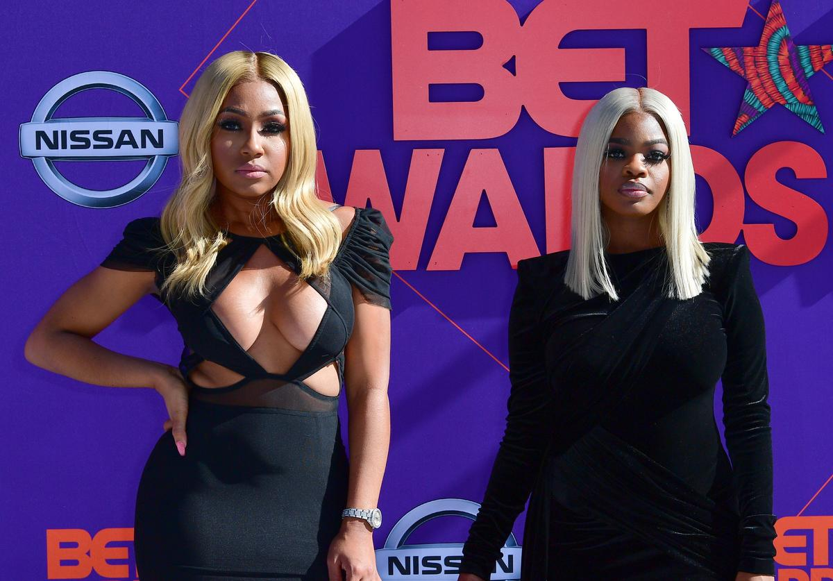 Yung Miami and JT Members of the Group City Girls arrive to the 2018 BET Awards held at Microsoft Theater on June 24, 2018 in Los Angeles, California
