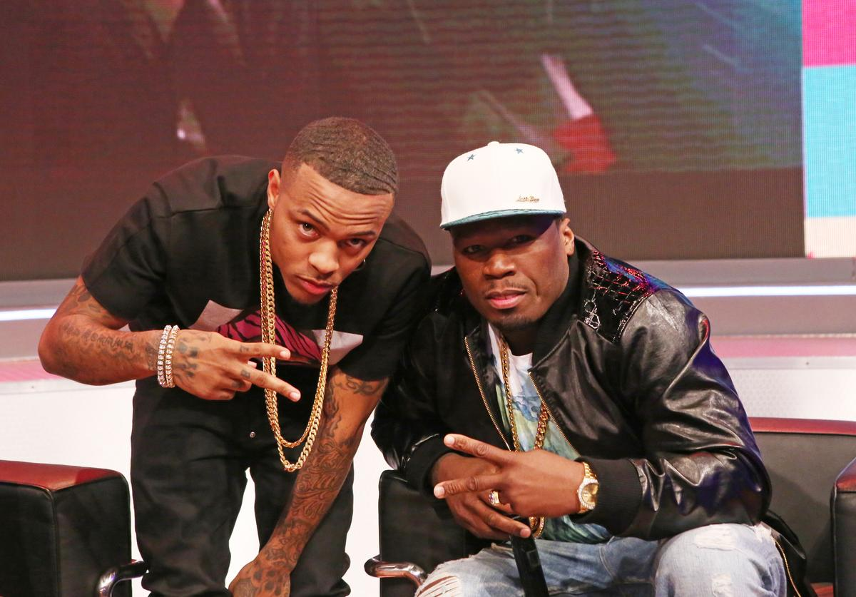 "Bow Wow and Curtis ""50 Cent"" Jackson attend 106 & Park at BET studio on May 19, 2014 in New York City"