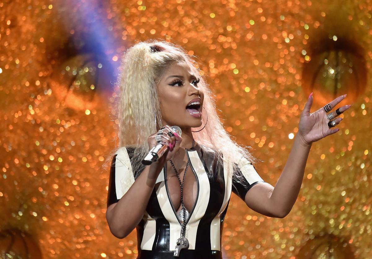 Nicki Minaj performs onstage during the 2017 MTV Video Music Awards at The Forum on August 27, 2017 in Inglewood, California