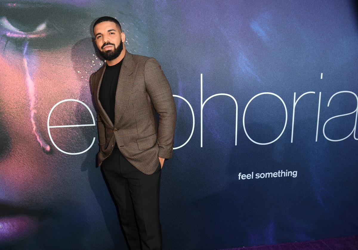 "Drake attends the LA Premiere of HBO's ""Euphoria"" at The Cinerama Dome on June 04, 2019 in Los Angeles, California."