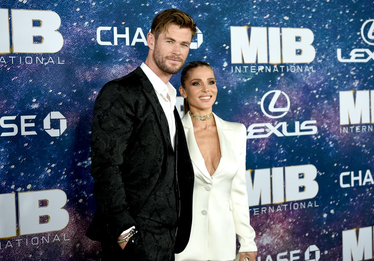 Chris Hemsworth and Elsa Pataky at the World Premiere of Columbia Pictures' MEN IN BLACK™: