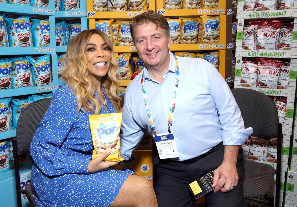 Wendy Williams and Jerry Bello At SNAXSationalBrands.com Booth