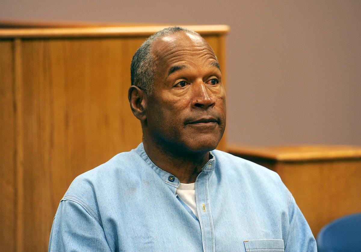 O.J. Simpson attends his parole hearing at Lovelock Correctional Center