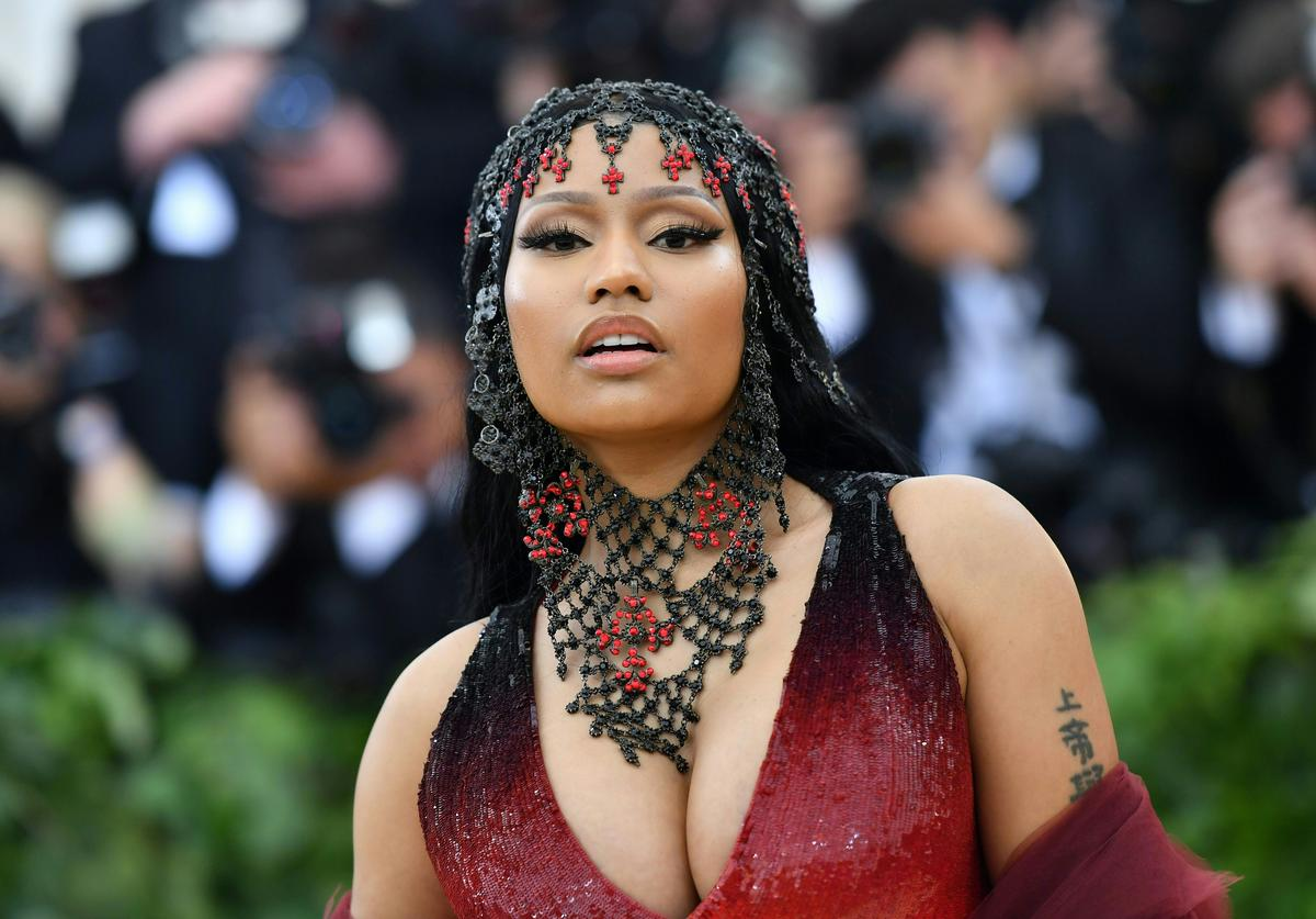 Nicki Minaj arrives for the 2018 Met Gala on May 7, 2018, at the Metropolitan Museum of Art in New York