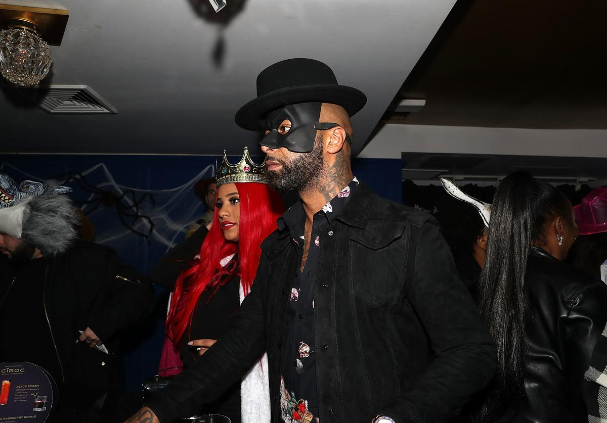 Joe Budden and Cyn Santana attends LaLa Anthony & Lenny S Halloween Party at Vandal on October 31, 2018 in New York City