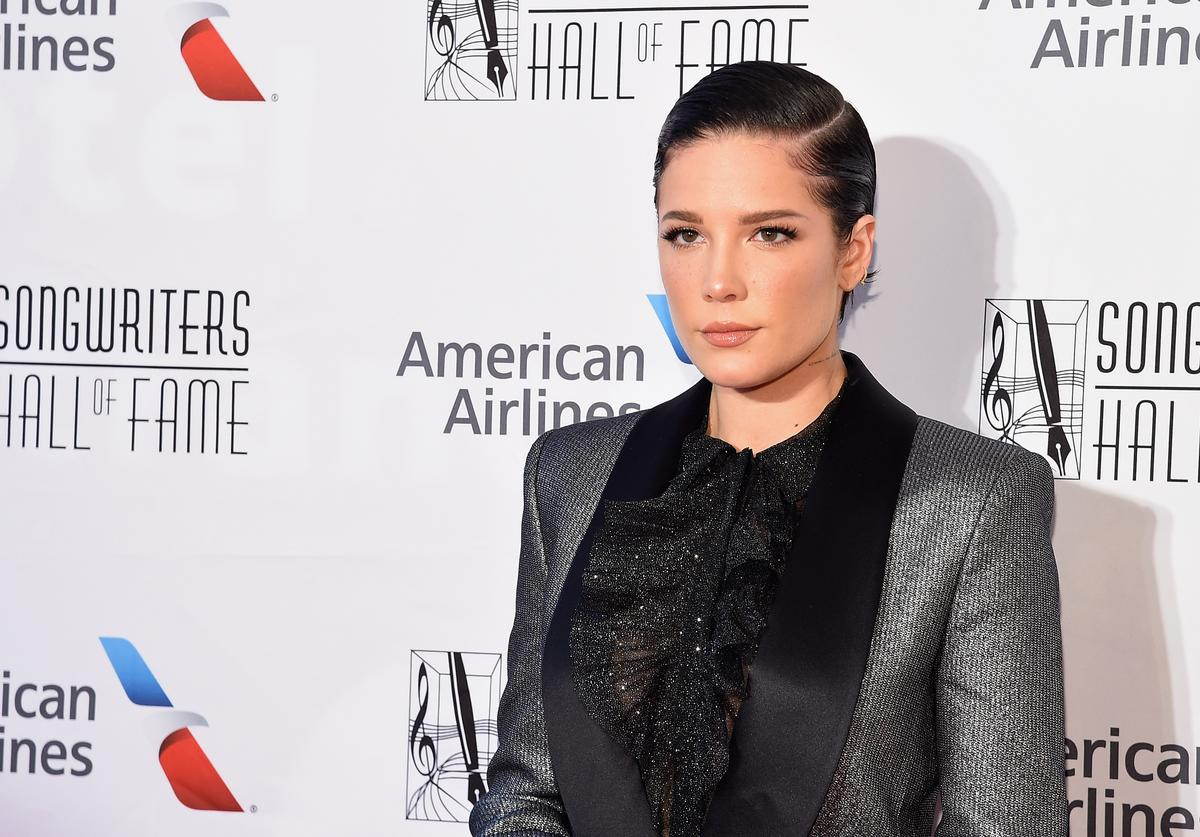 Halsey attends the 2019 Songwriters Hall Of Fame at The New York Marriott Marquis