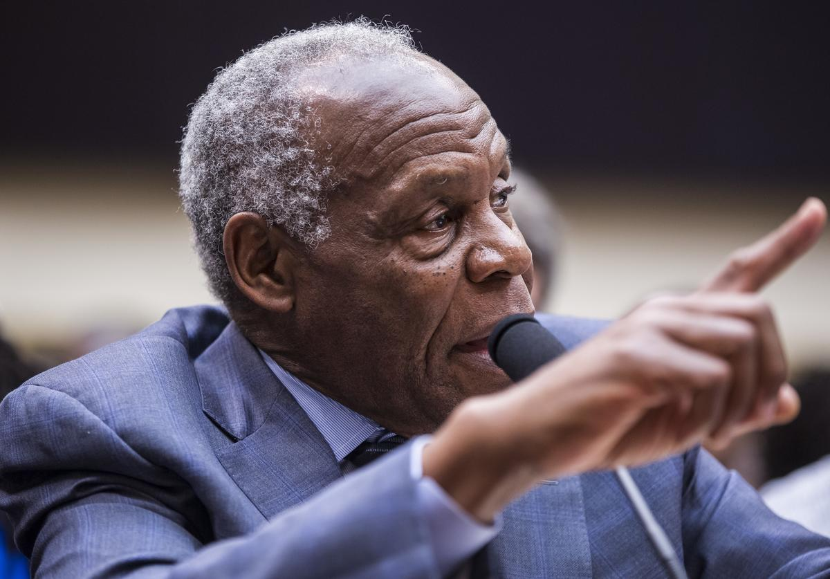 ctor Danny Glover testifies during a hearing on slavery reparations held by the House Judiciary Subcommittee on the Constitution, Civil Rights and Civil Liberties on June 19, 2019