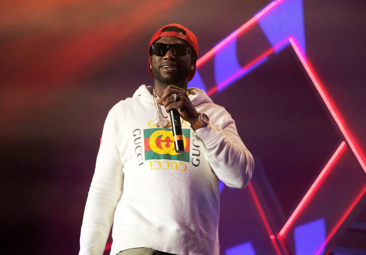 Gucci Mane performs onstage during Spotify's RapCaviar Live in Houston at Revention Music Center on December 14, 2017 in Houston, Texas