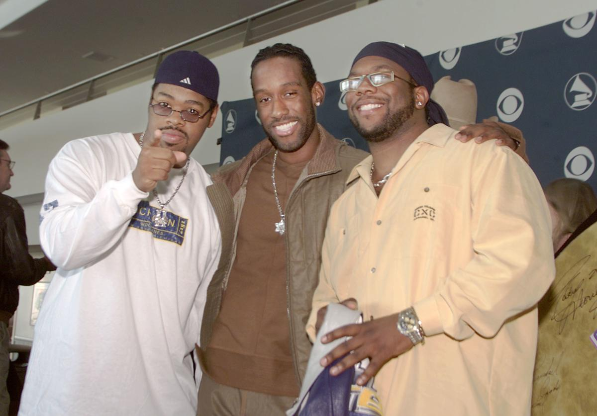 Recording artists Boyz II Men at a press conference held by The Recording Acadamy to announce that the 43rd Annual Grammy Awards will return to the Staples Center, in Los Angeles, Ca. on February 21, 2001.