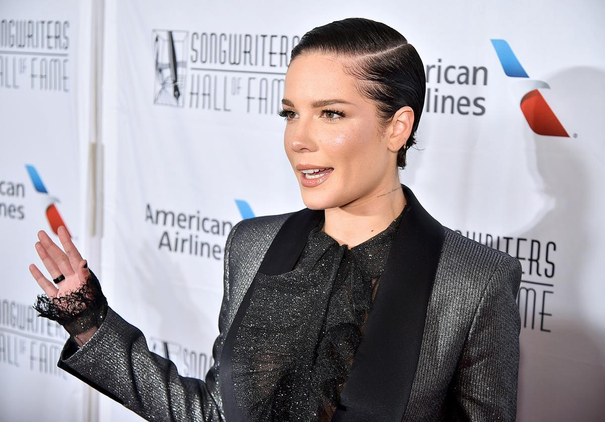 : Halsey attends the Songwriters Hall Of Fame 50th Annual Induction And Awards Dinner at The New York Marriott Marquis on June 13, 2019 in New York City.