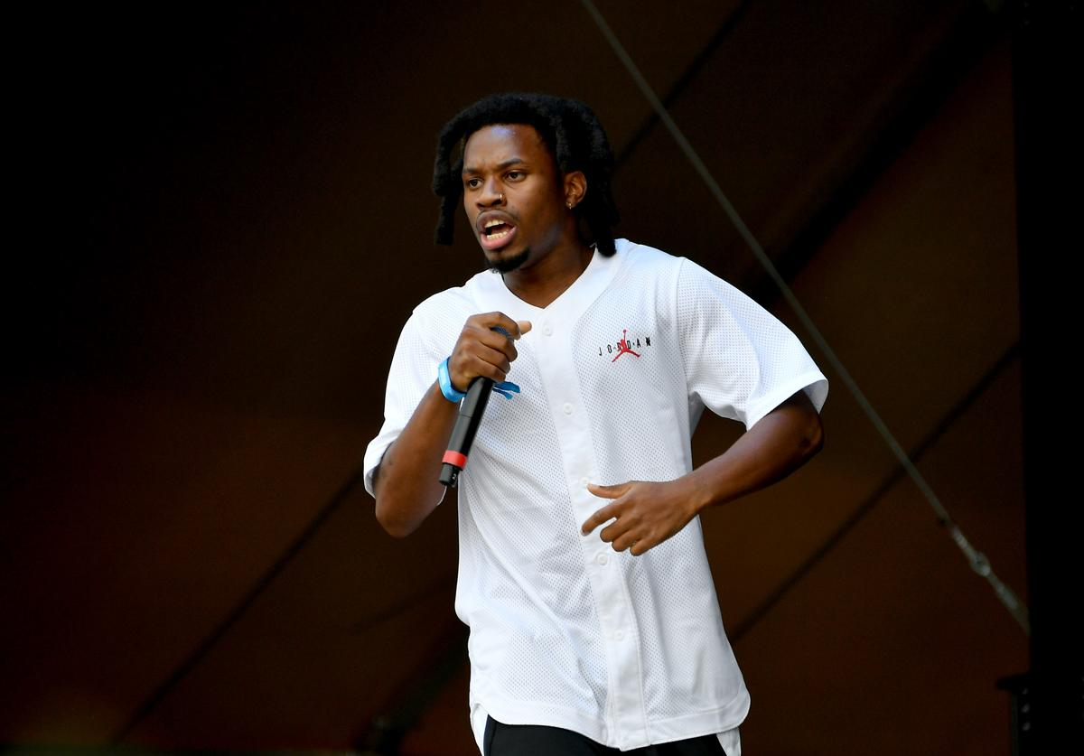 Denzel Curry performs at the 2019 Governors Ball Festival at Randall's Island on June 01, 2019 in New York City.