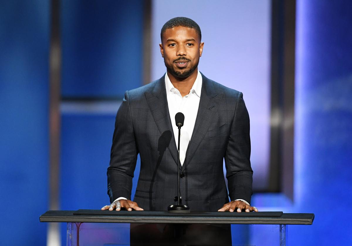 Michael B. Jordan speaks onstage during the 47th AFI Life Achievement Award honoring Denzel Washington at Dolby Theatre on June 06, 2019 in Hollywood, California.