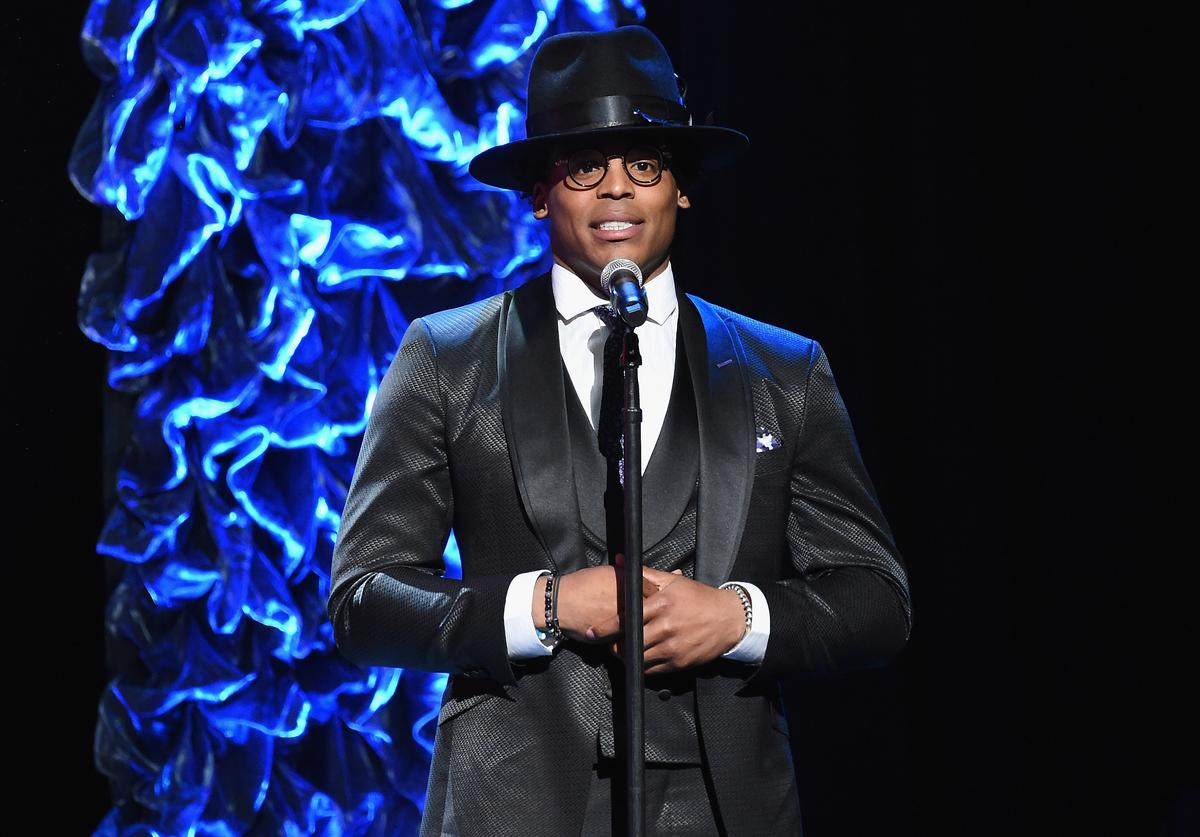Cam Newton presents onstage at the 2019 Super Bowl Gospel Celebration at Atlanta Symphony Hall on January 31, 2019 in Atlanta, Georgia.