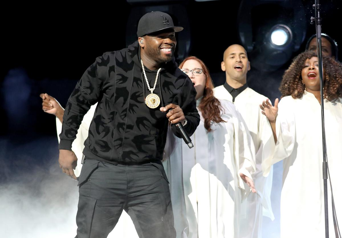 "Curtis ""50 cent"" Jackson performs onstage during the Starz ""Power"" The Fifth Season"