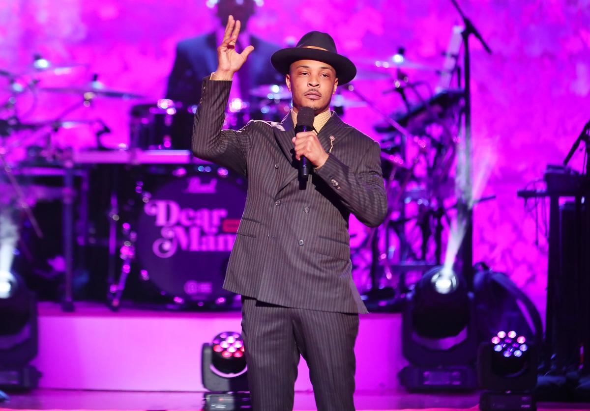 """T.I. performs during VH1's Annual """"Dear Mama: A Love Letter To Mom"""" at The Theatre at Ace Hotel on May 02, 2019 in Los Angeles, California."""