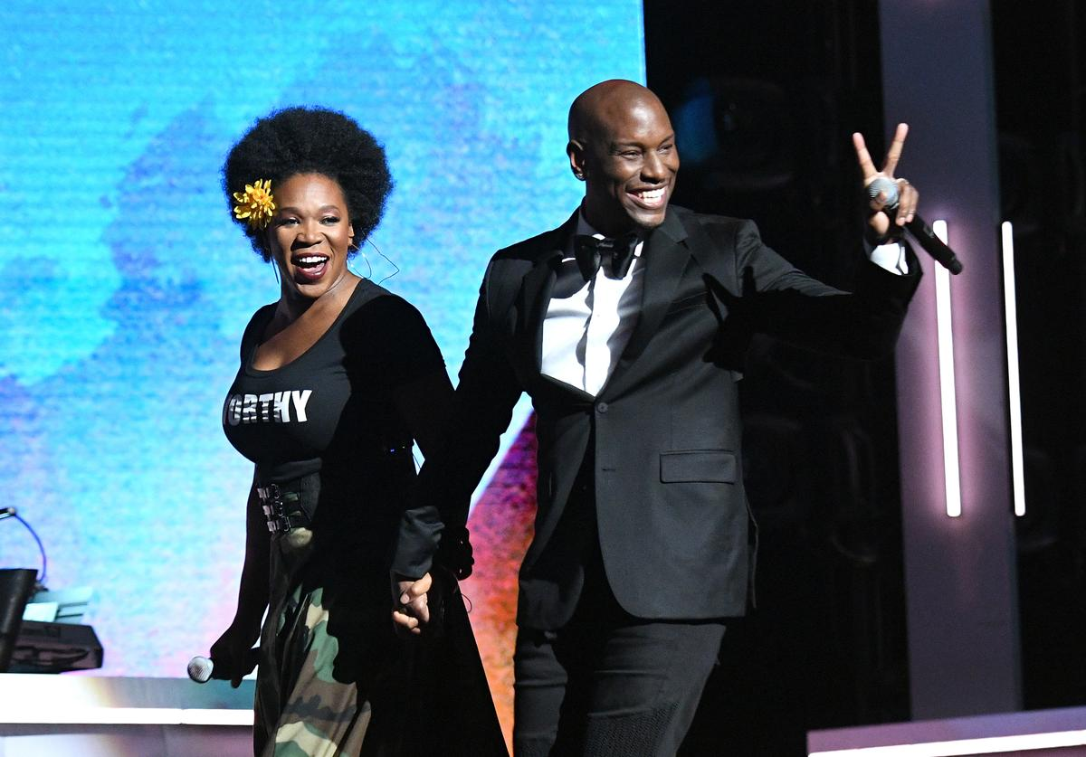 India.Arie (L) and Tyrese perform onstage during Black Girls Rock! 2017 at NJPAC