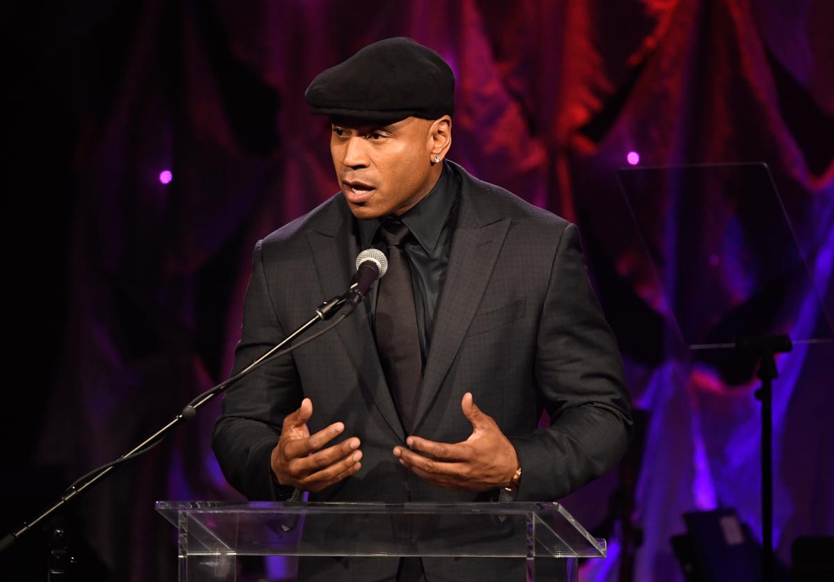 LL Cool J speaks onstage during the Pre-GRAMMY Gala and GRAMMY Salute to Industry Icons Honoring Clarence Avant at The Beverly Hilton Hotel on February 9, 2019 in Beverly Hills, California.