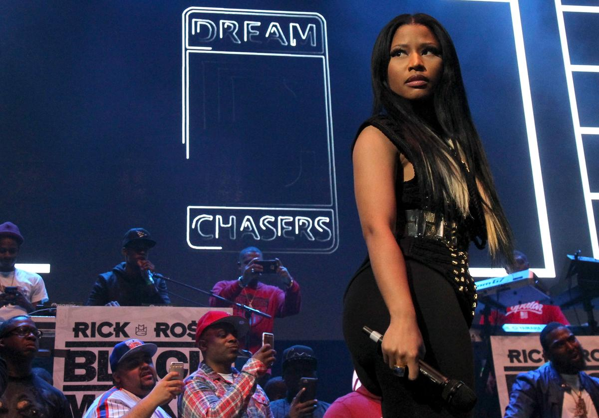 Nicki Minaj performs onstage during 105.1's Powerhouse 2015 at the Barclays Center on October 22, 2015 in Brooklyn, NY