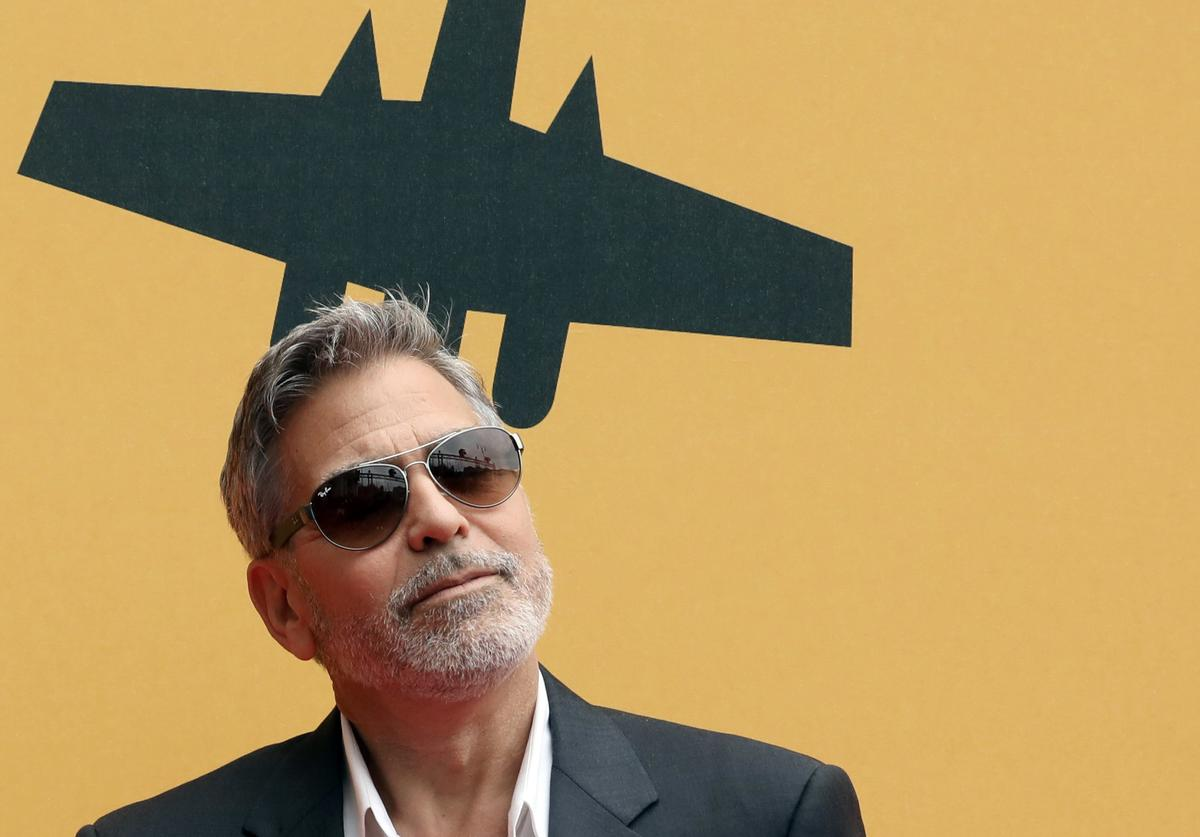 George Clooney attends 'Catch-22' Photocall, a Sky production