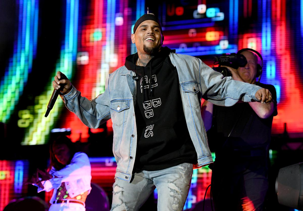 Chris Brown performs onstage at SOMETHING IN THE WATER - Day 3
