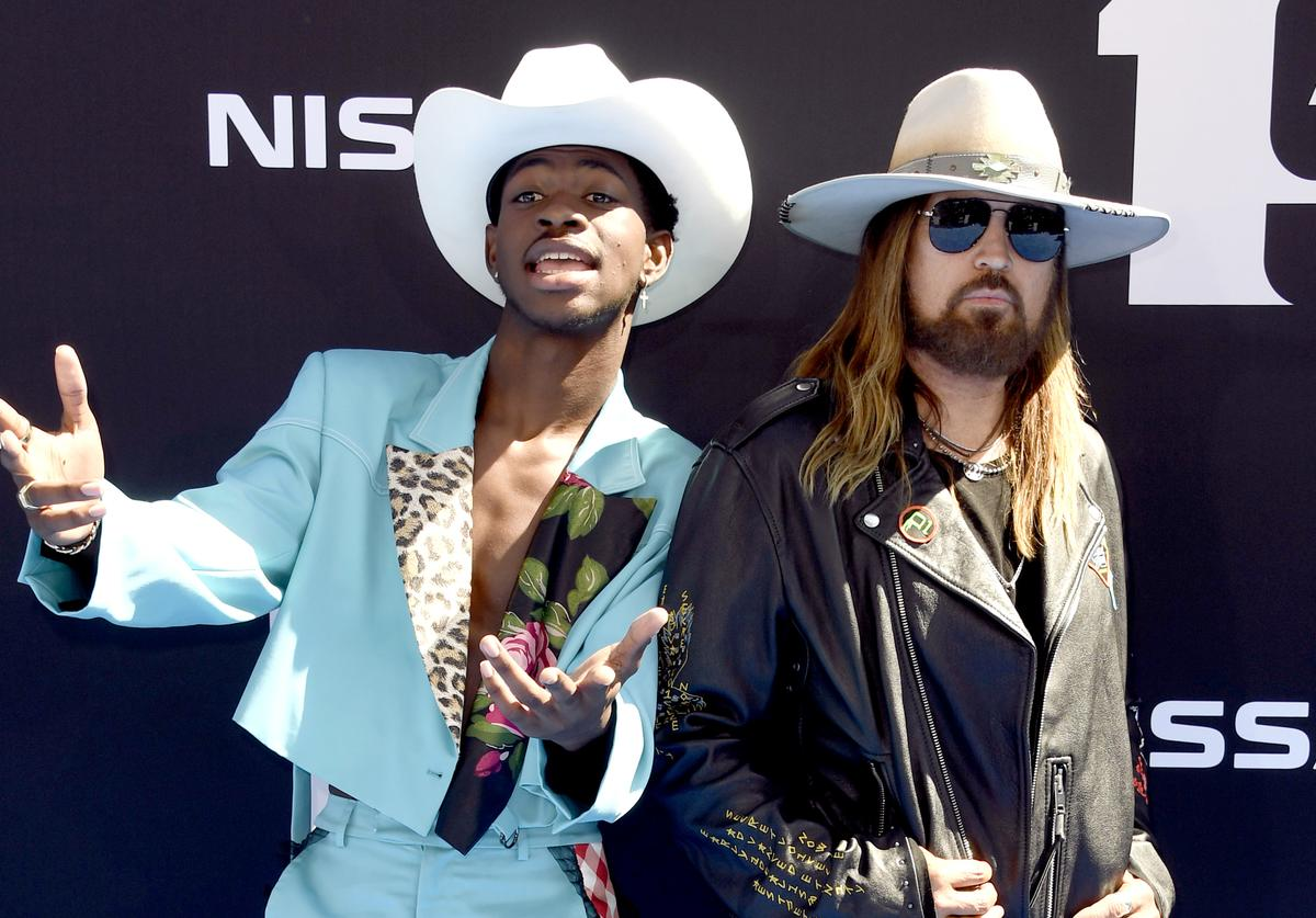 Lil Nas X and Billy Ray Cyrus attend the 2019 BET Awards