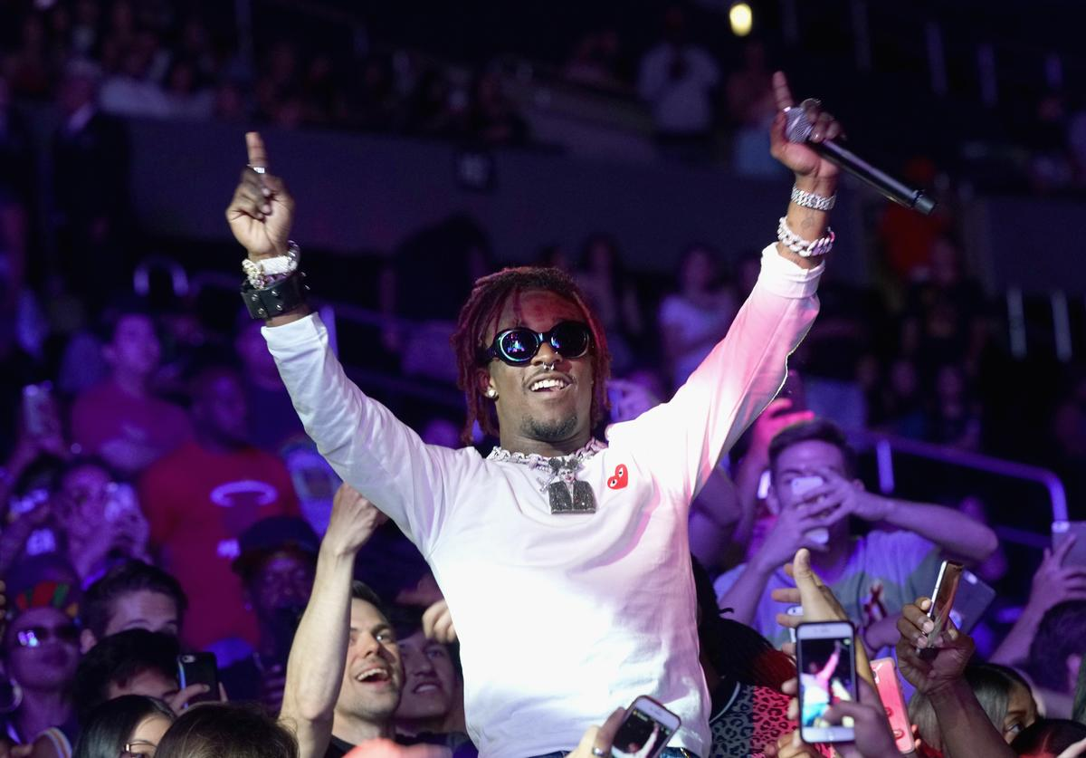 Lil Uzi Vert performs at night one of the 2017 BET Experience STAPLES Center Concert, sponsored by Hulu, at Staples Center on June 22, 2017 in Los Angeles, California