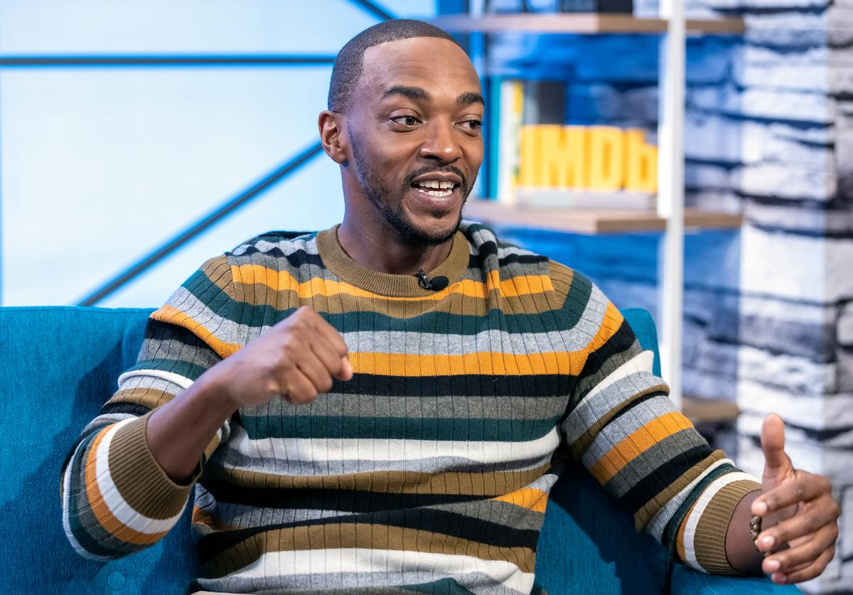 Actor Anthony Mackie visits 'The IMDb Show' on April 24, 2019 in Studio City, California