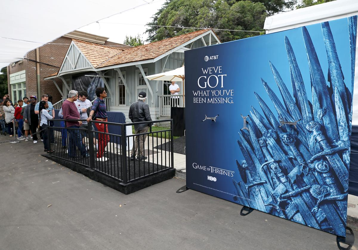 Guests interact with the HBO - Game of Thrones Experience at AT&T SHAPE