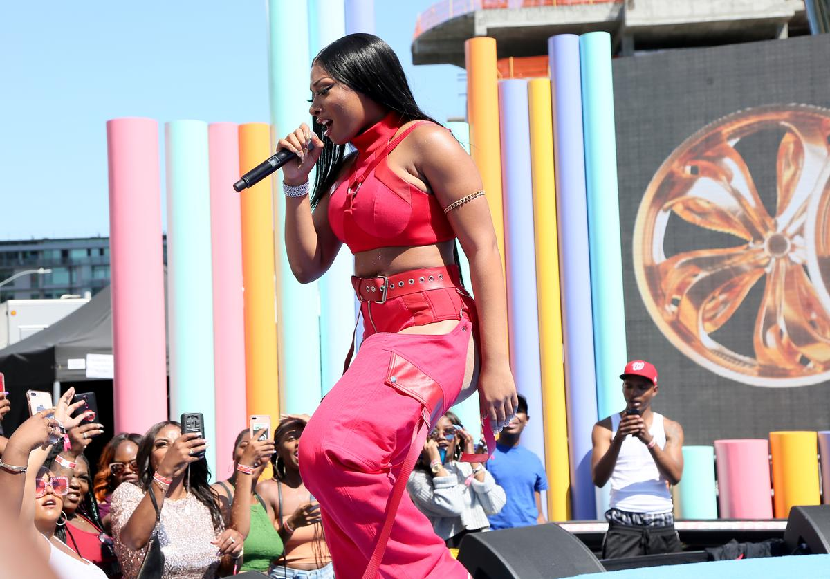 Megan Thee Stallion performs onstage during the Pre Show at the 2019 BET Awards