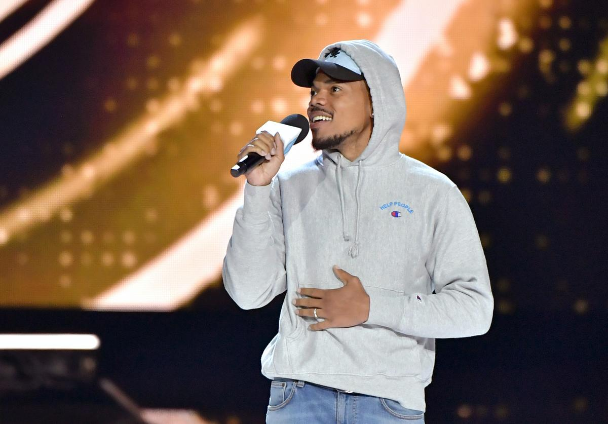 Chance The Rapper speaks onstage at WE Day California at The Forum on April 25, 2019 in Inglewood, California.