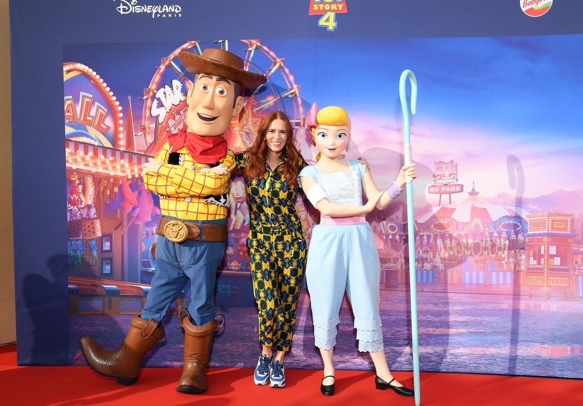 "Audrey Fleurot attends the ""Toy Story 4"" Paris Gala Screening at Disneyland Paris on June 22, 2019 in Paris, France."