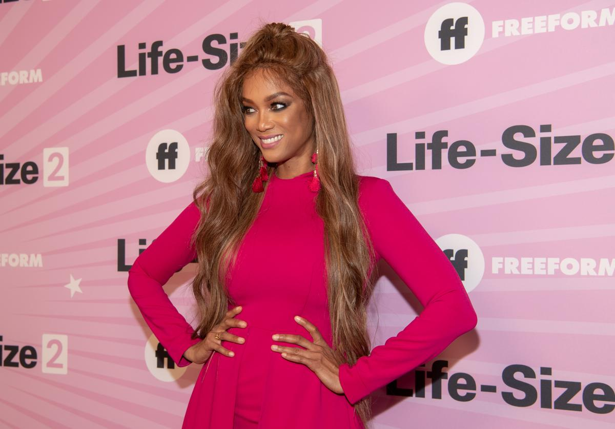Tyra Banks attends the premiere of 'Life Size 2' at Hollywood Roosevelt Hotel on November 27, 2018 in Hollywood, California.