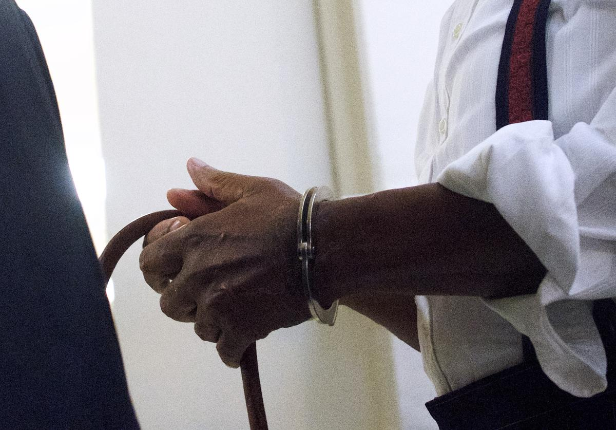 Bill Cosby is taken away in handcuffs after being sentenced to 3-10 years