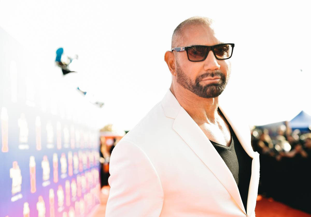 Dave Bautista attends the 2019 MTV Movie and TV Awards at Barker Hangar on June 15, 2019 in Santa Monica, California.