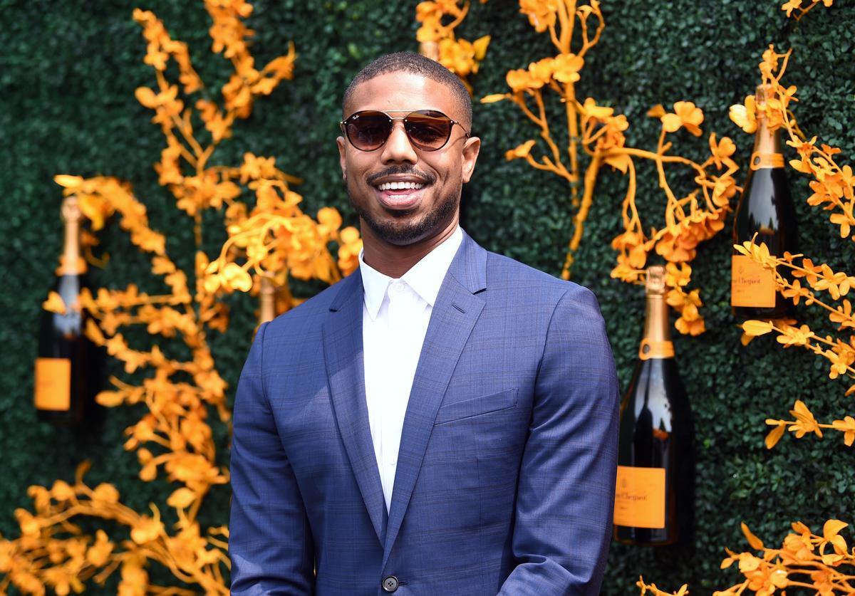 Michael B. Jordan attends the 12th Annual Veuve Clicquot Polo Classic at Liberty State Park on June 01, 2019 in Jersey City, New Jersey.