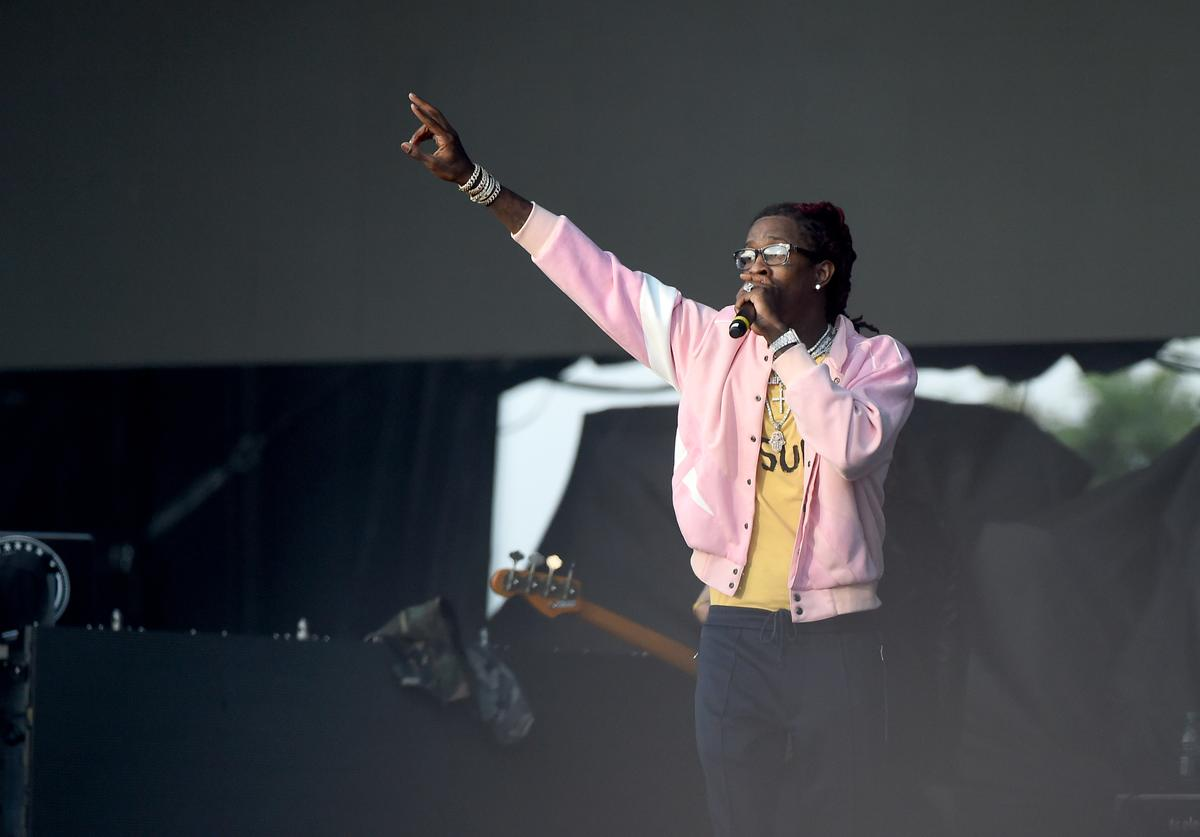 Young Thug performs onstage during the Meadows Music and Arts Festival