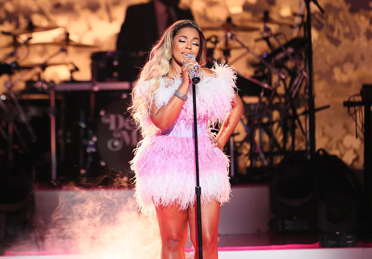 "Ashanti performs during VH1's Annual ""Dear Mama: A Love Letter To Mom"" at The Theatre at Ace Hotel on May 02, 2019 in Los Angeles, California"