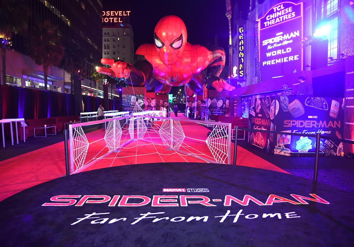 "A general view is shown at the after party for the premiere of Sony Pictures' ""Spider-Man: Far From Home"""