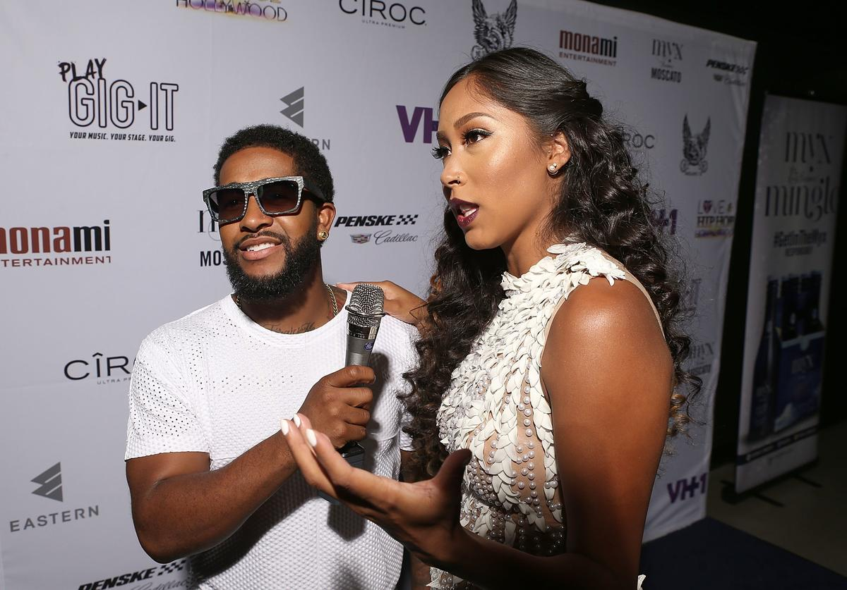 TV personalities Omarion and Apryl Jones attend the Love & Hip Hop: Hollywood Premiere Event on September 9, 2014