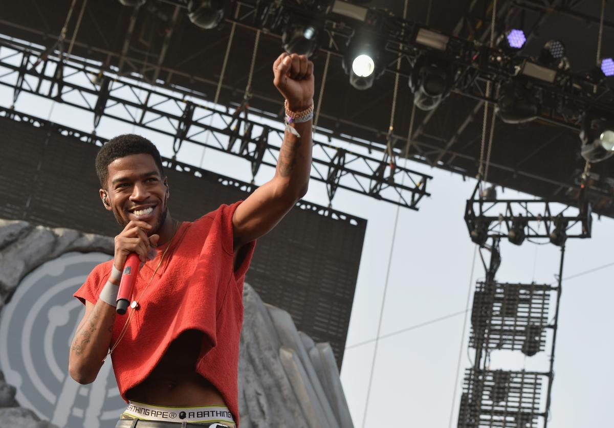 Kid Cudi rocks a crop top at Coachella