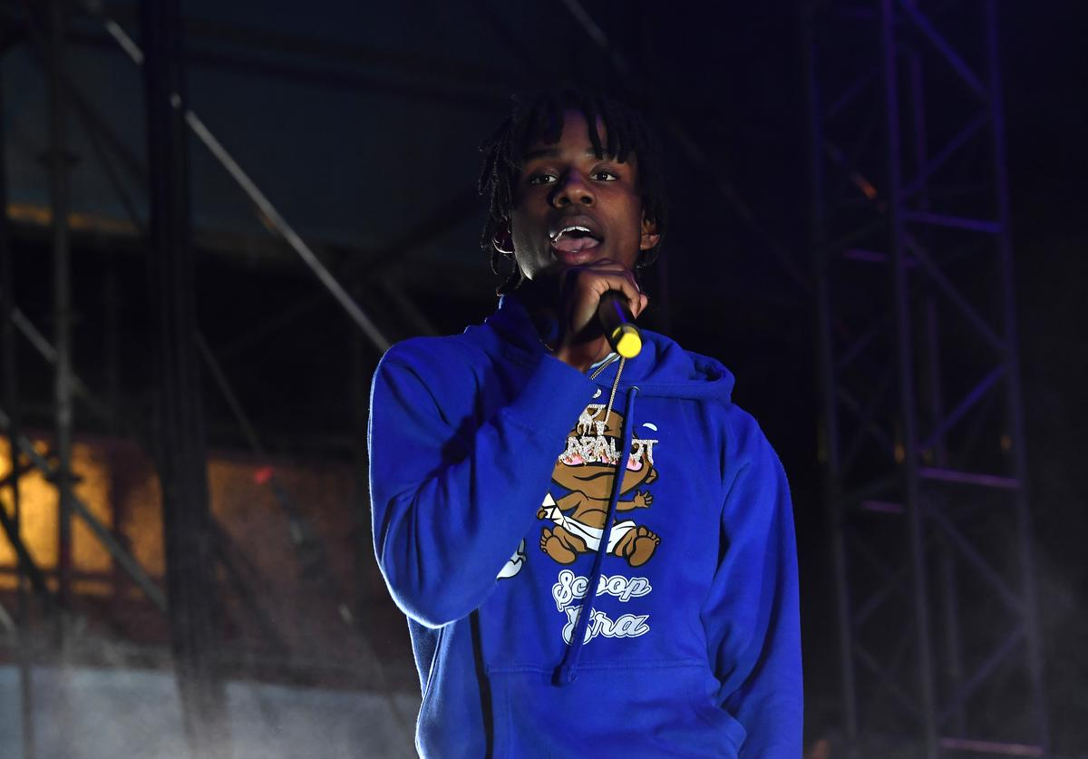 Polo G performs at Sony's activation at SOMETHING IN THE WATER on April 27, 2019