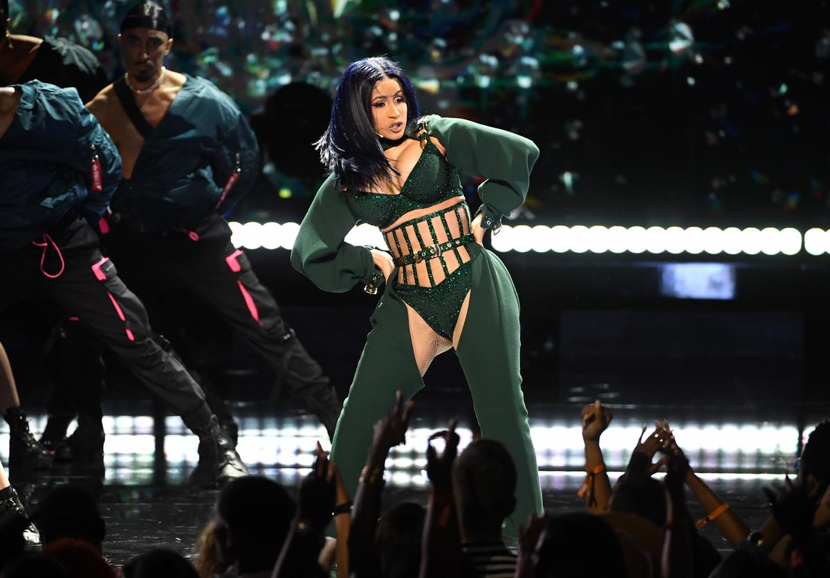 Cardi B performs onstage at the 2019 BET Awards on June 23, 2019 in Los Angeles, California