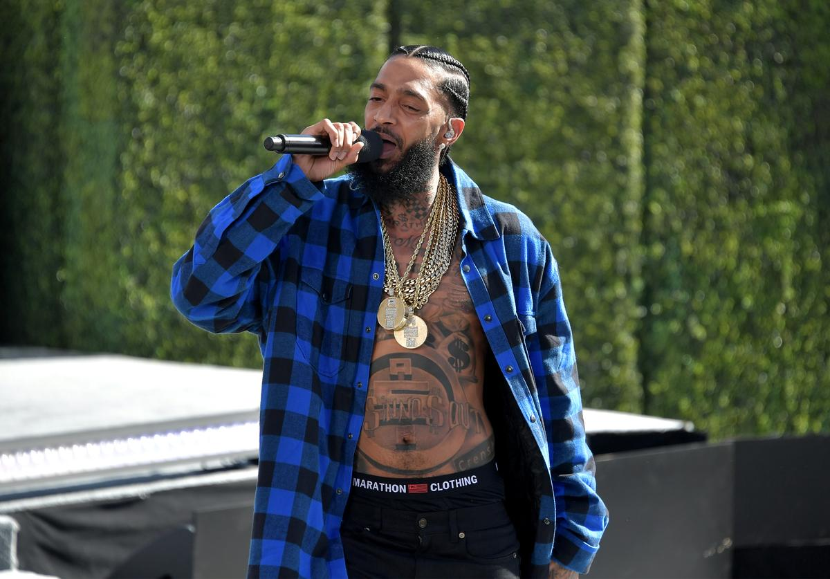 Nipsey Hussle performs onstage at Live! Red! Ready! Pre-Show, sponsored by Nissan
